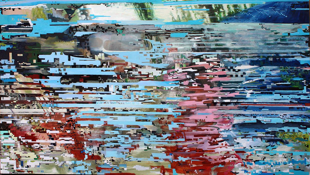 I began with digital sketches created through an interweaving of images sourced from specific places and events. Layers of digit