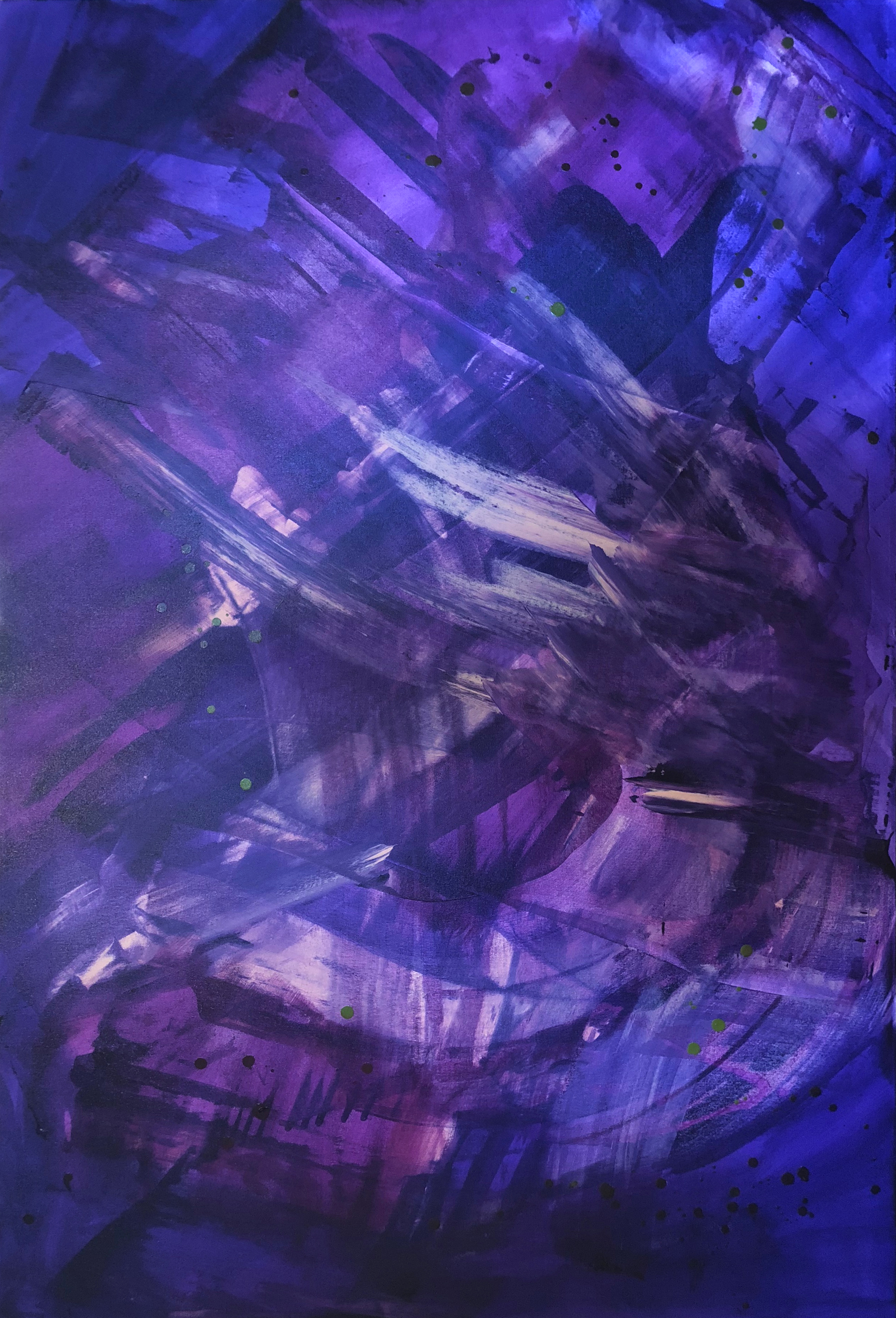 """Violet Energy"" a painting by Jen Sterling"
