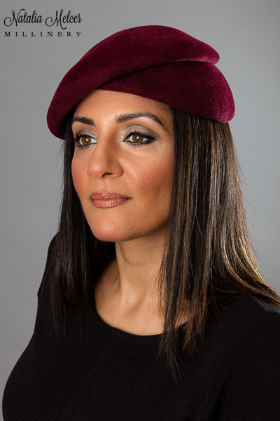 Maroon Double Beret by Natalia Melcer