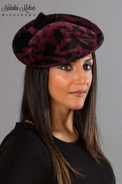 Jaguar Print Perching Hat by Natalia Melcer