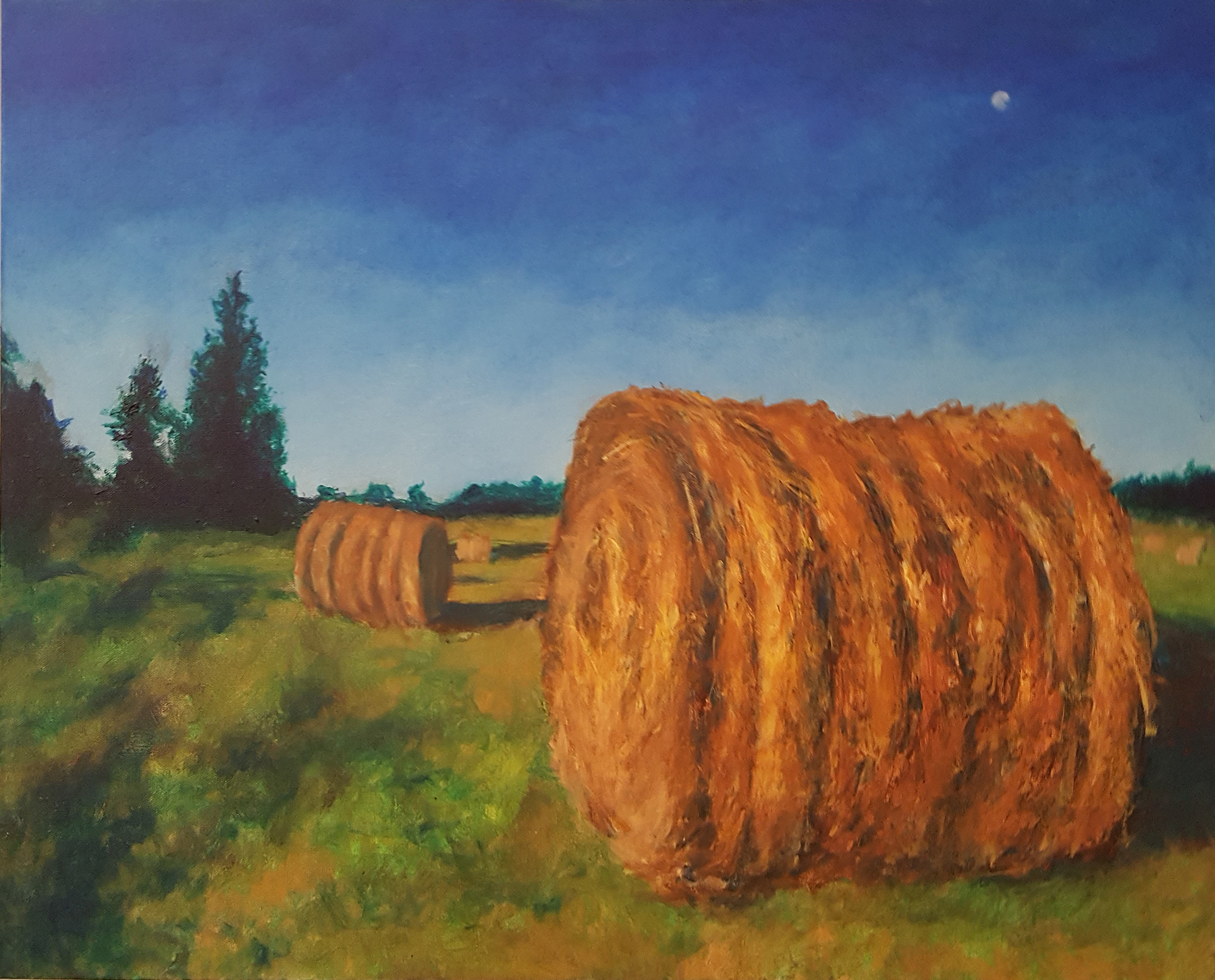 A Woodbine, MD farm having sold out produced these last hay bales