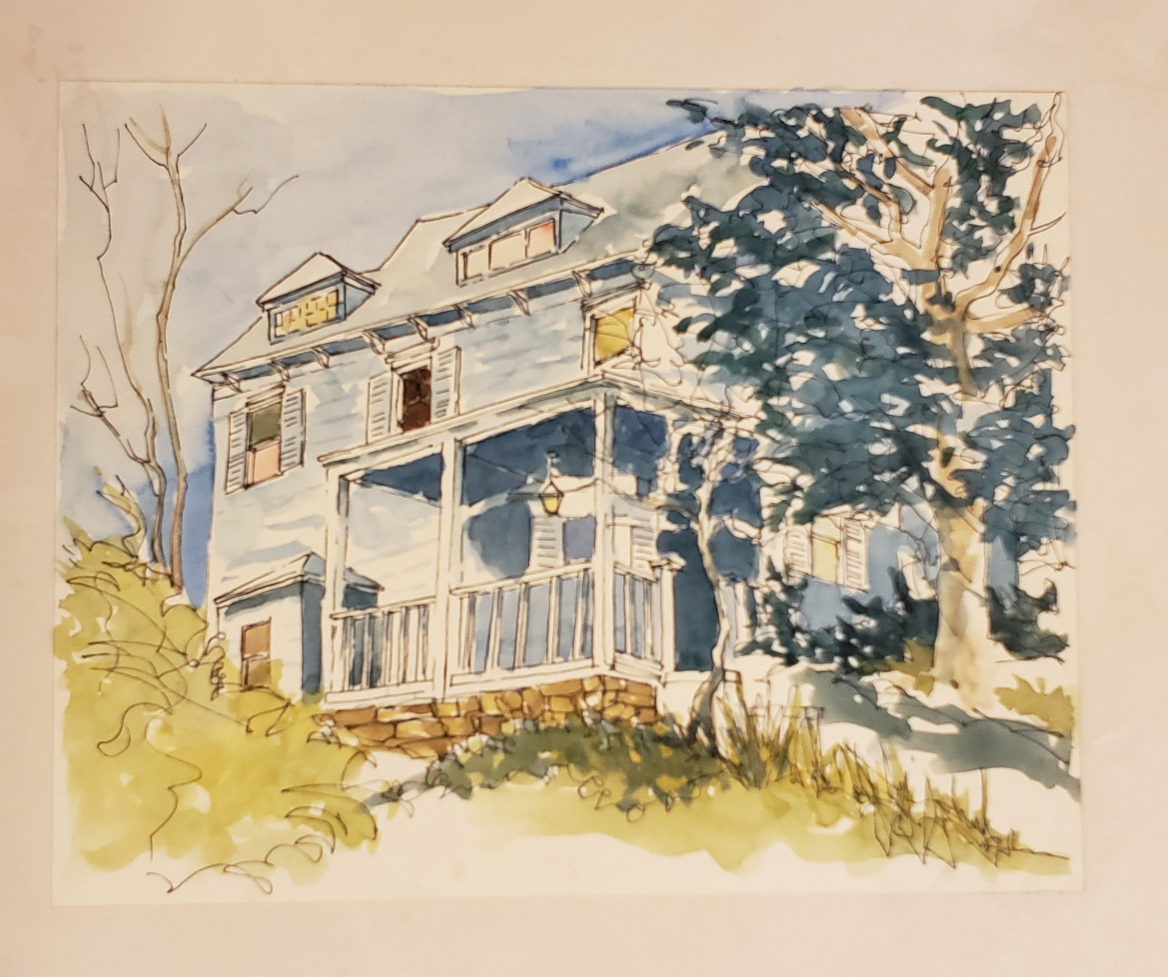 Watercolor of Richard Klank's home