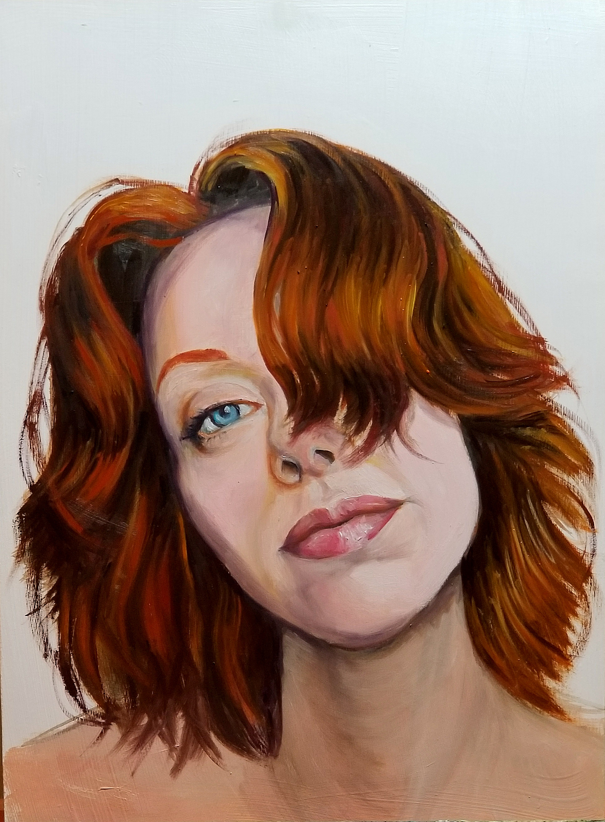 portrait of women with red hair