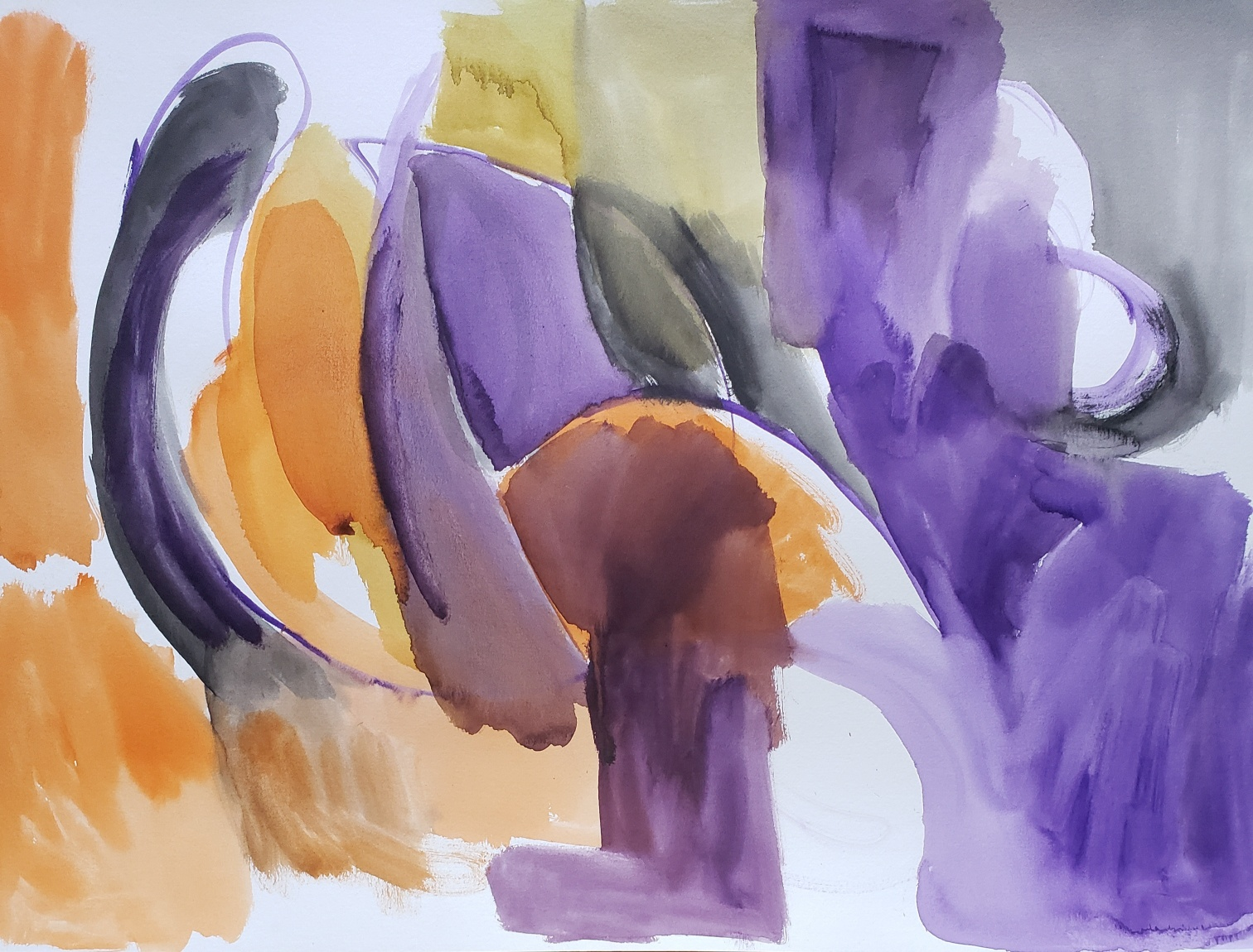 composition in purple and orange (2020)