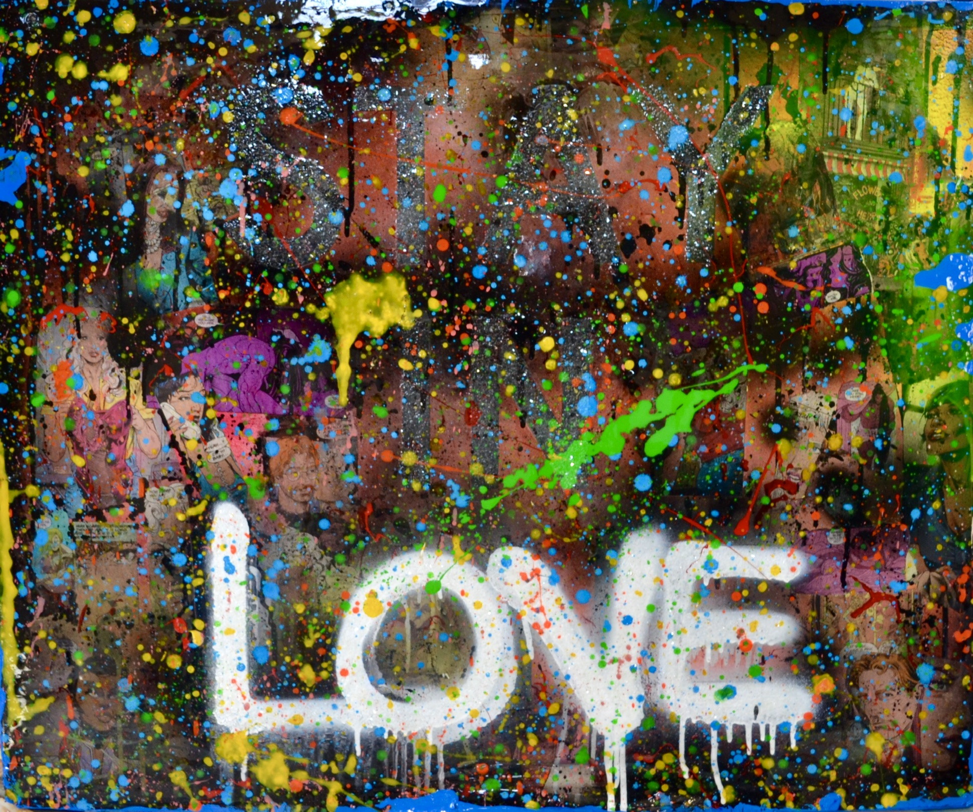 Stay In Love mixed media painting by Lamar Jones