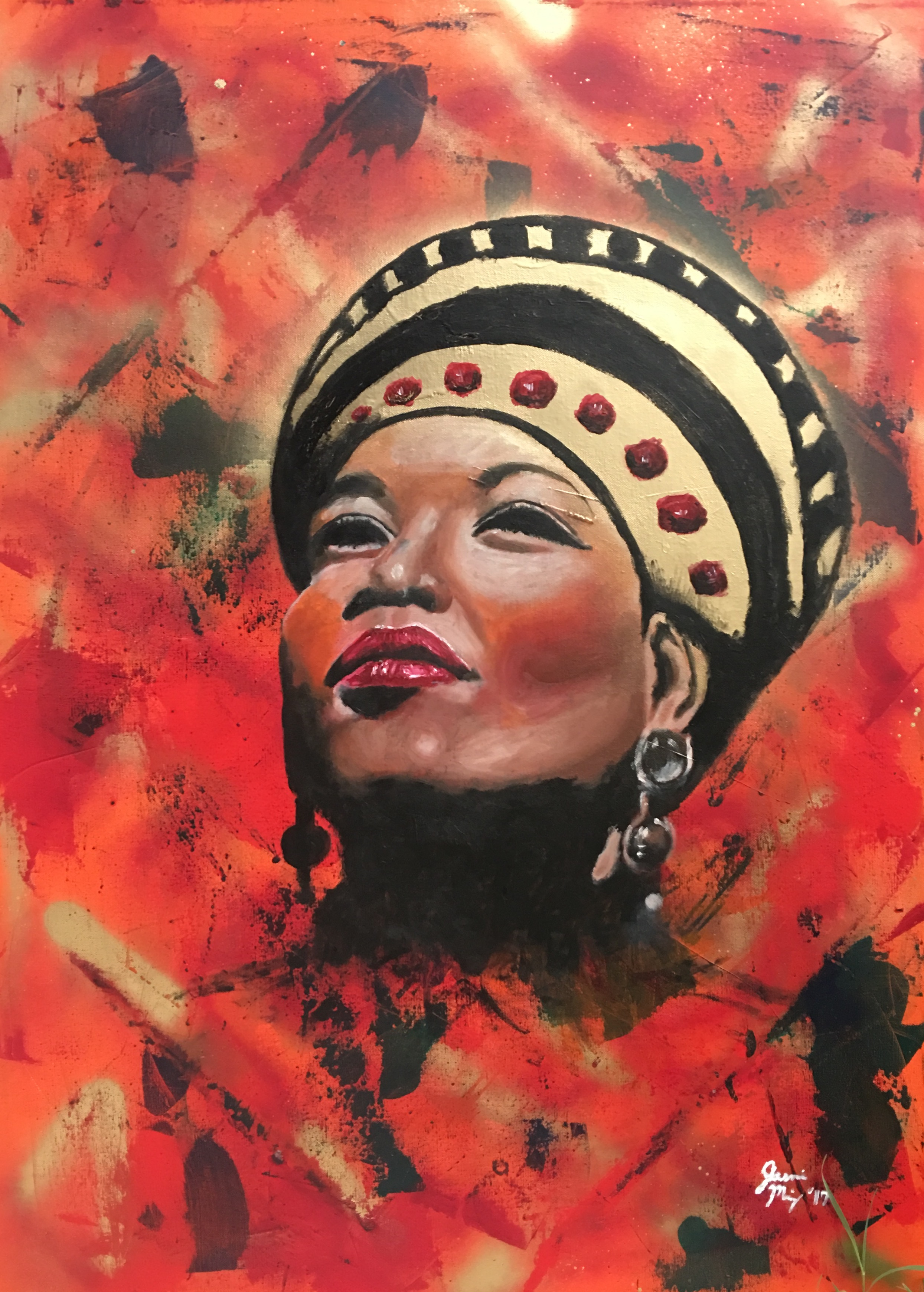 Art Painting Oil Painting Acrylic Spray Paint Portrait Queen
