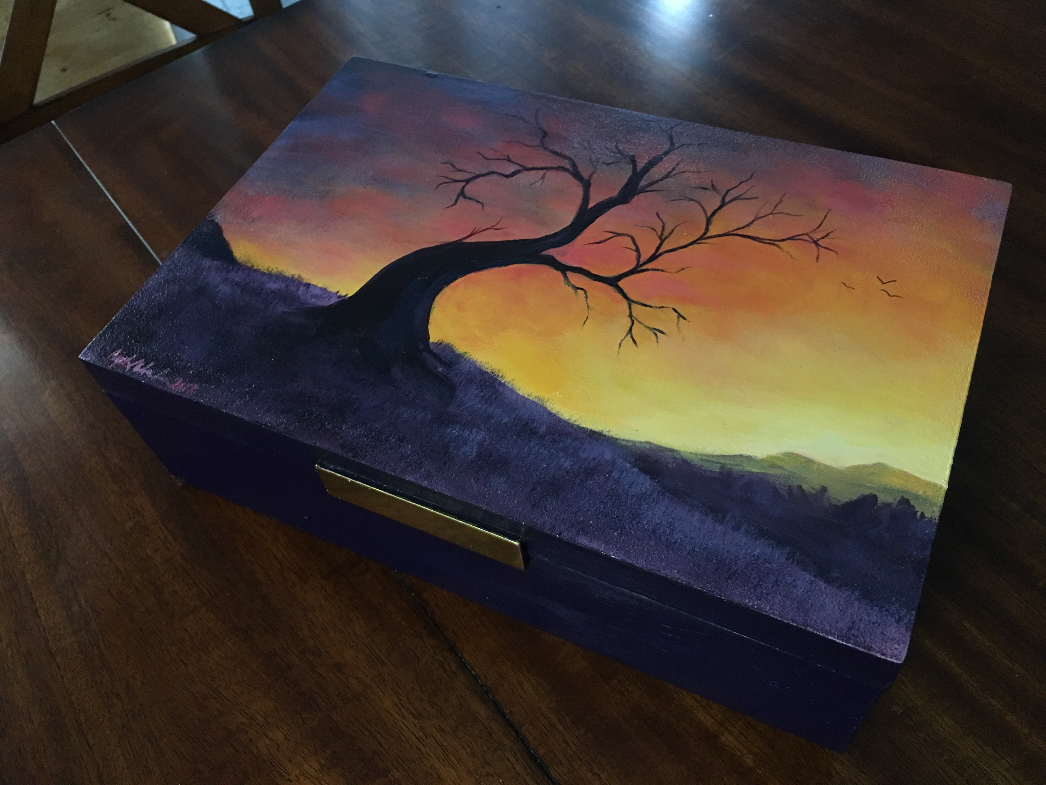 Hand-Painted Storage Box