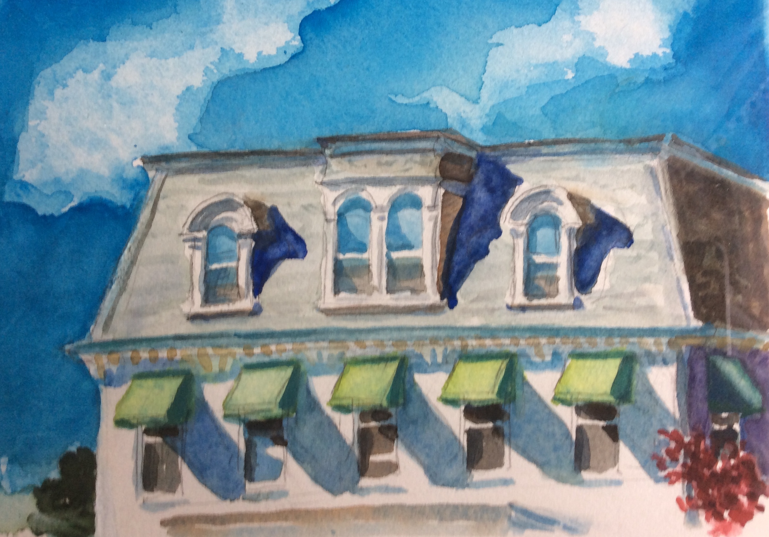 Watercolor Painting Architecture Westminster Maryland