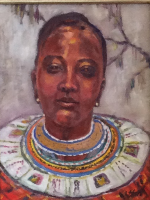 Portrait of a Maasai Woman from Tanzania