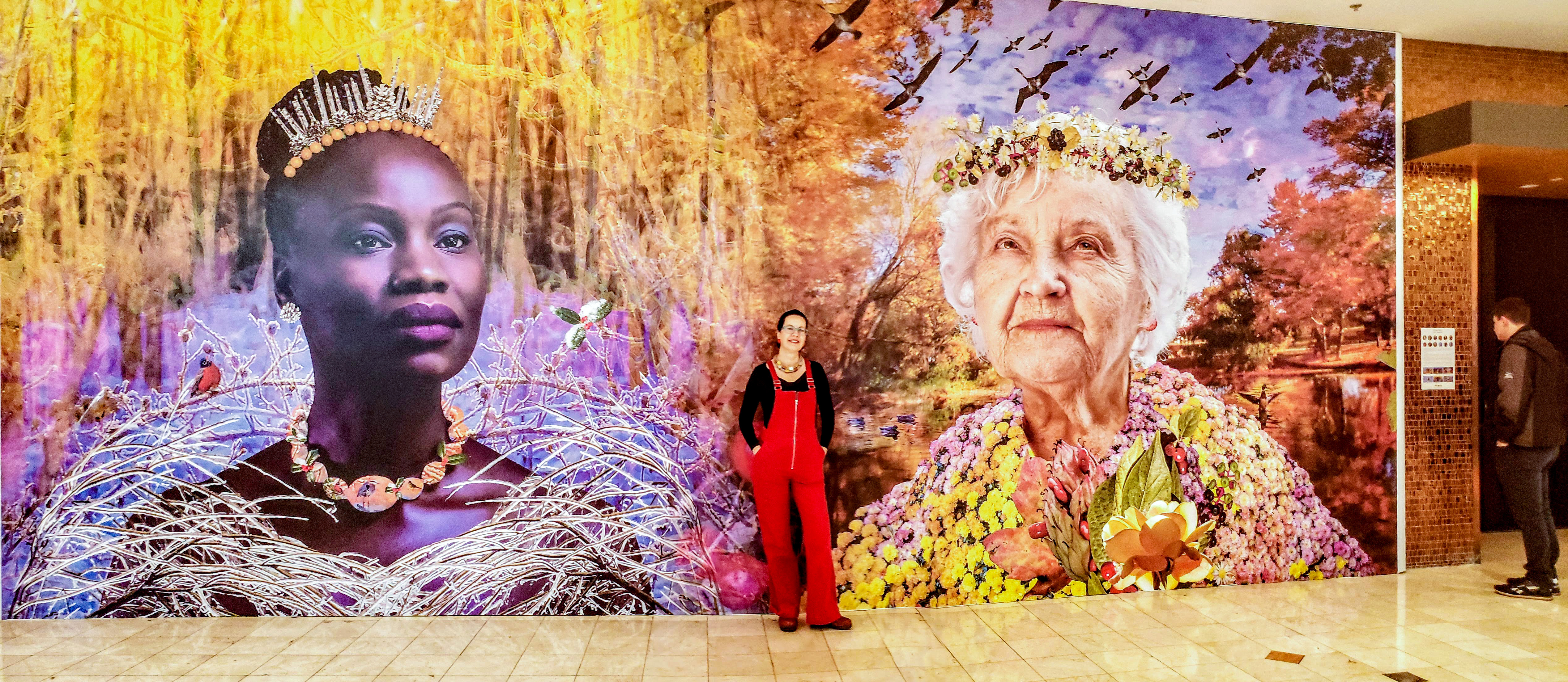 Mid Winter and Late Autumn mural at Westfield Montgomery Mall