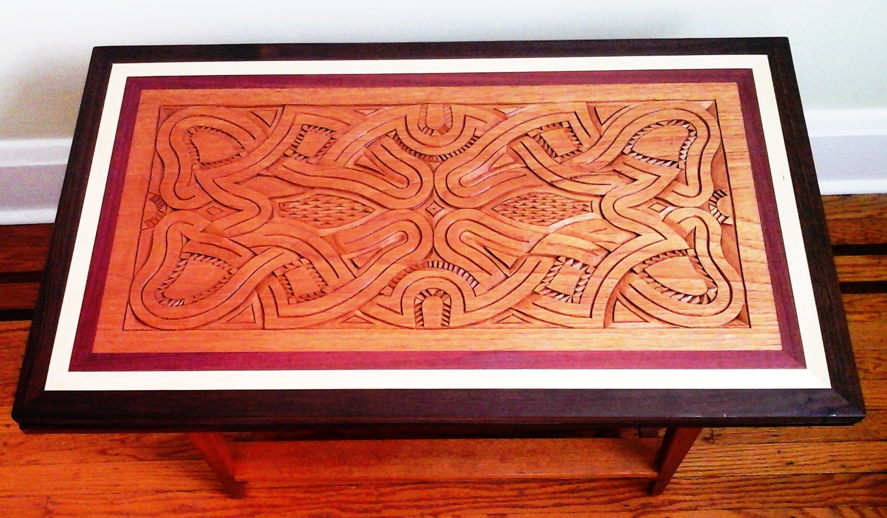 Carved wood wall art or table top