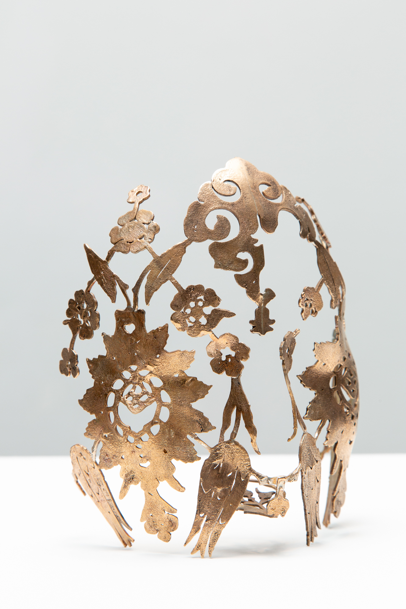 Sera Boeno;Ornament XI: Scold's Bridle with Hataîs, Tulips and Wild Flower Motifs; Bronze object