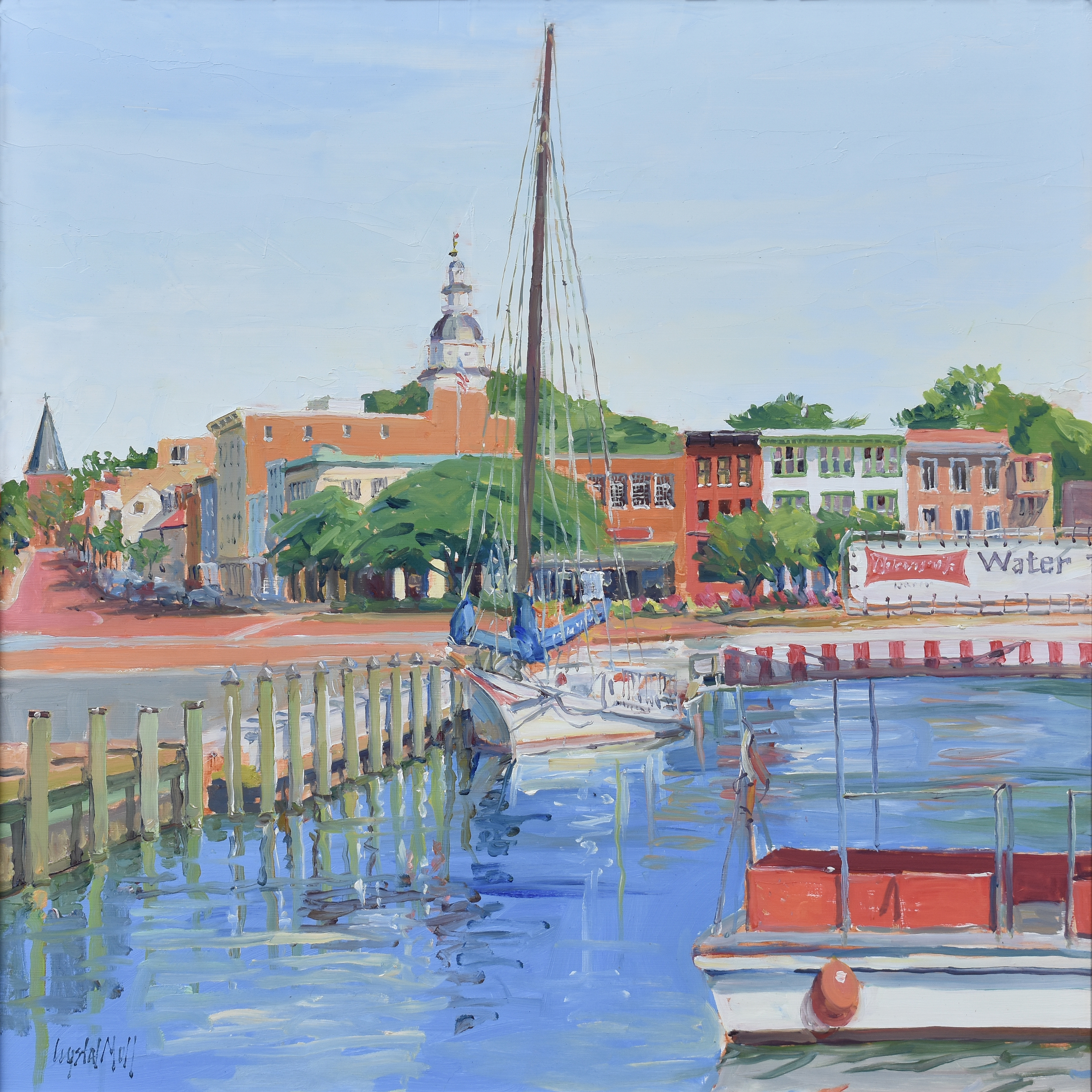 """Bow View"" is an oil on canvas which was painted on location. This piece required several visits to complete."