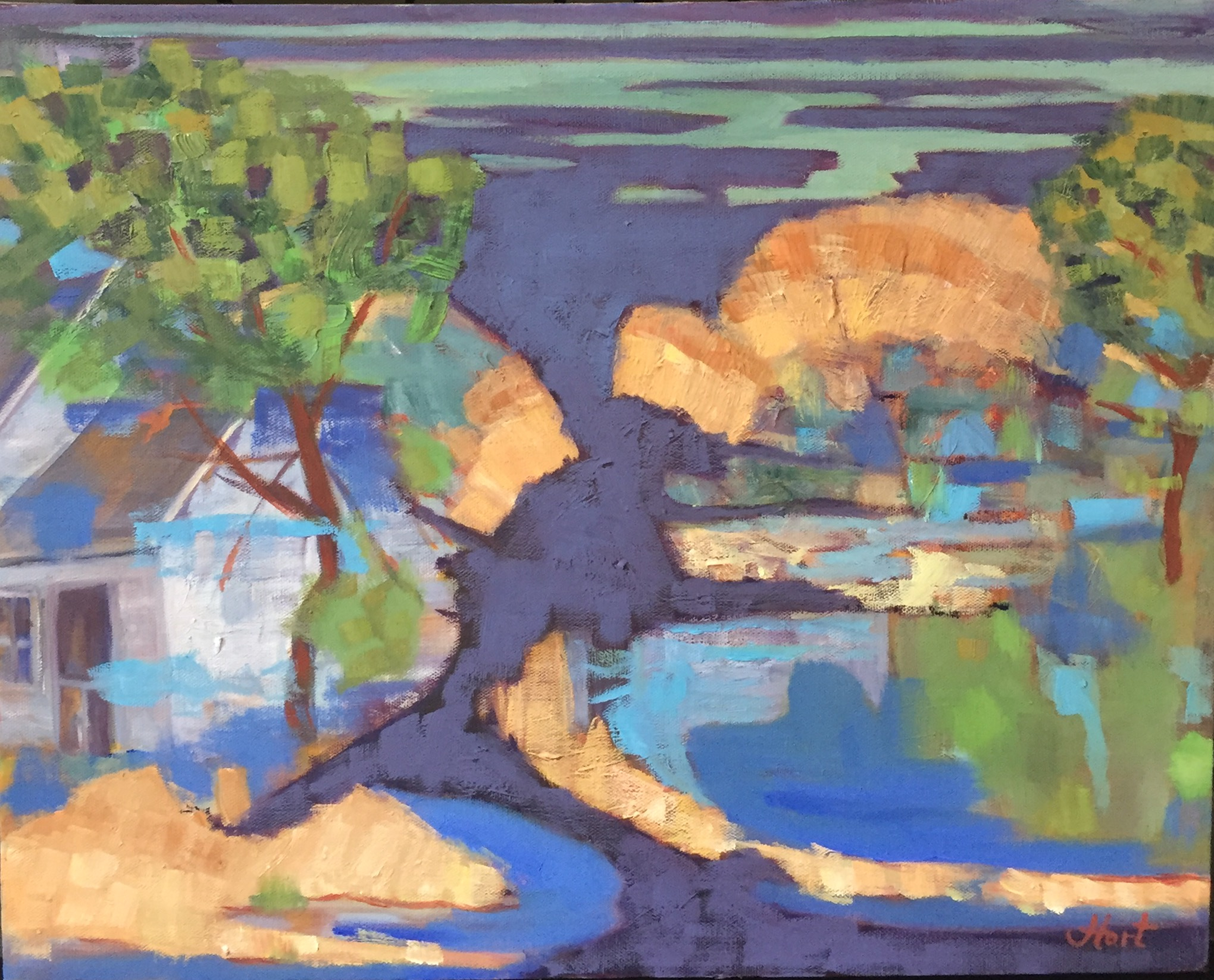 Abstract inspired by the landscape of the Eastern Shore