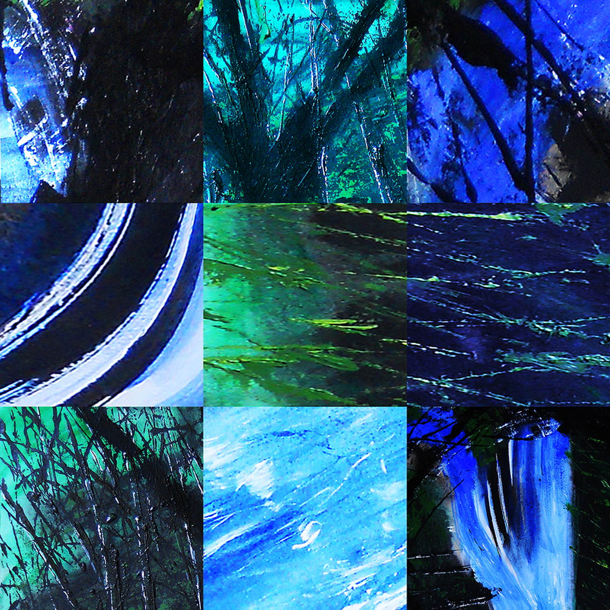 nature, watershed, environment, abstract, digital print, printed on glass or aluminum, green, blue, expressionistic, emotional