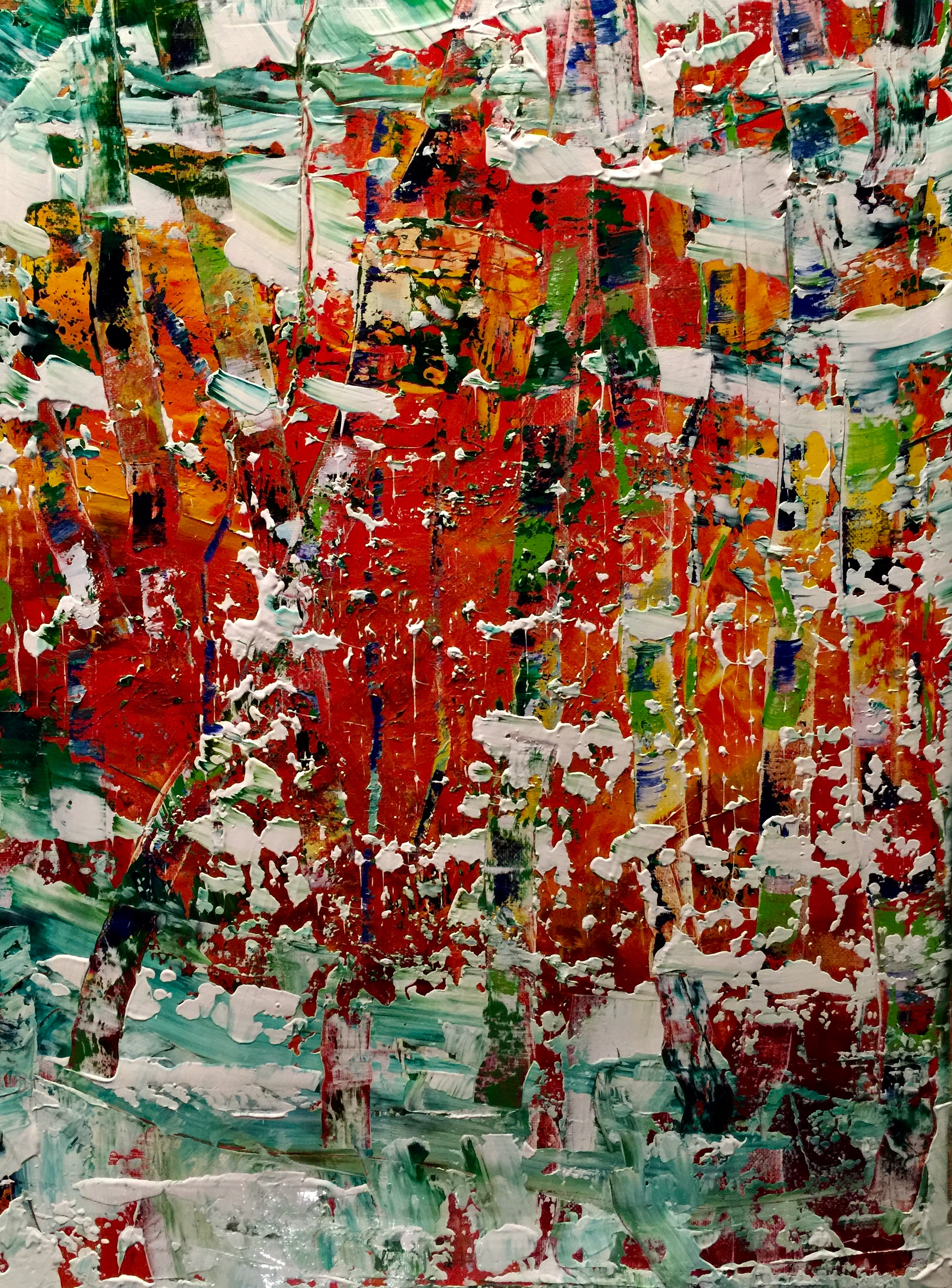 Abstract landscape by Maria-Victoria Checa Art Gerhard Richter style