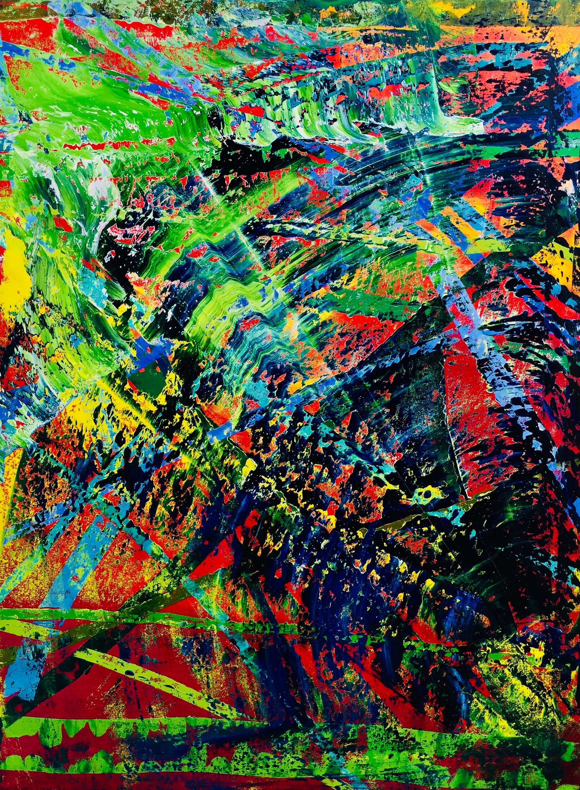 abstract painting by Maria-Victoria Checa Art Gerhard Richter style