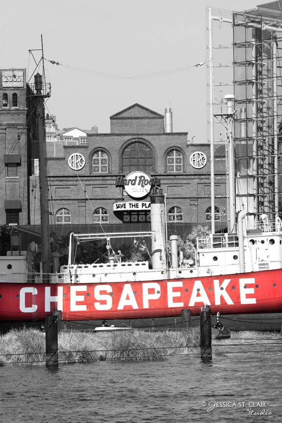 Chesapeake Beacon, mixed media photography and digital art by Jessica St. Clair