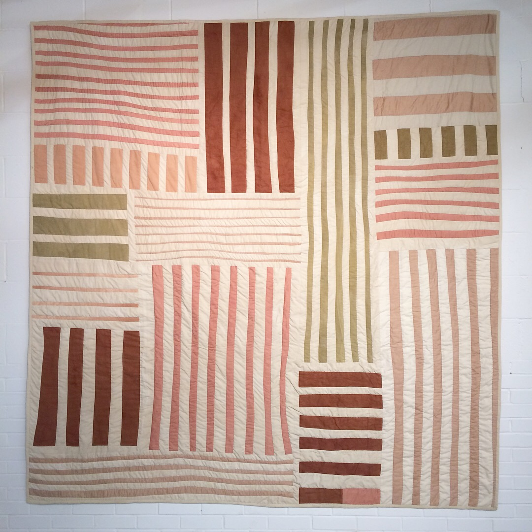 quilt, textiles, textile art, quilt painting, naturally dyed, hand quilted, plant dyed, plant colored,