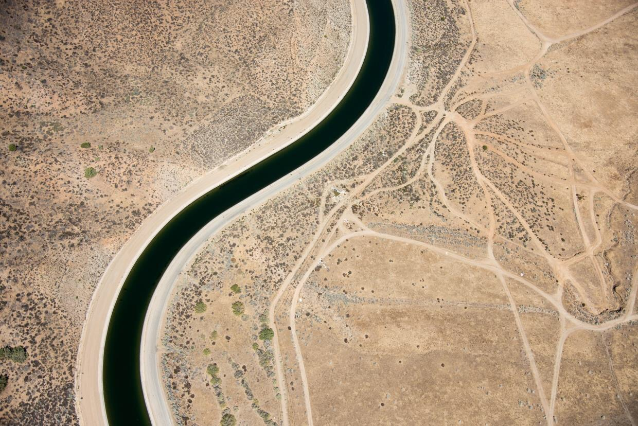 California Aqueduct, Near Lancaster, California