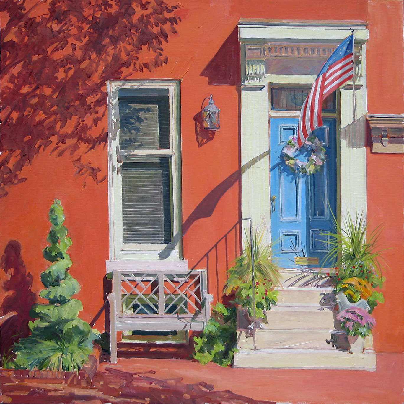 Plein Air painting. Oil Painting. Baltimore