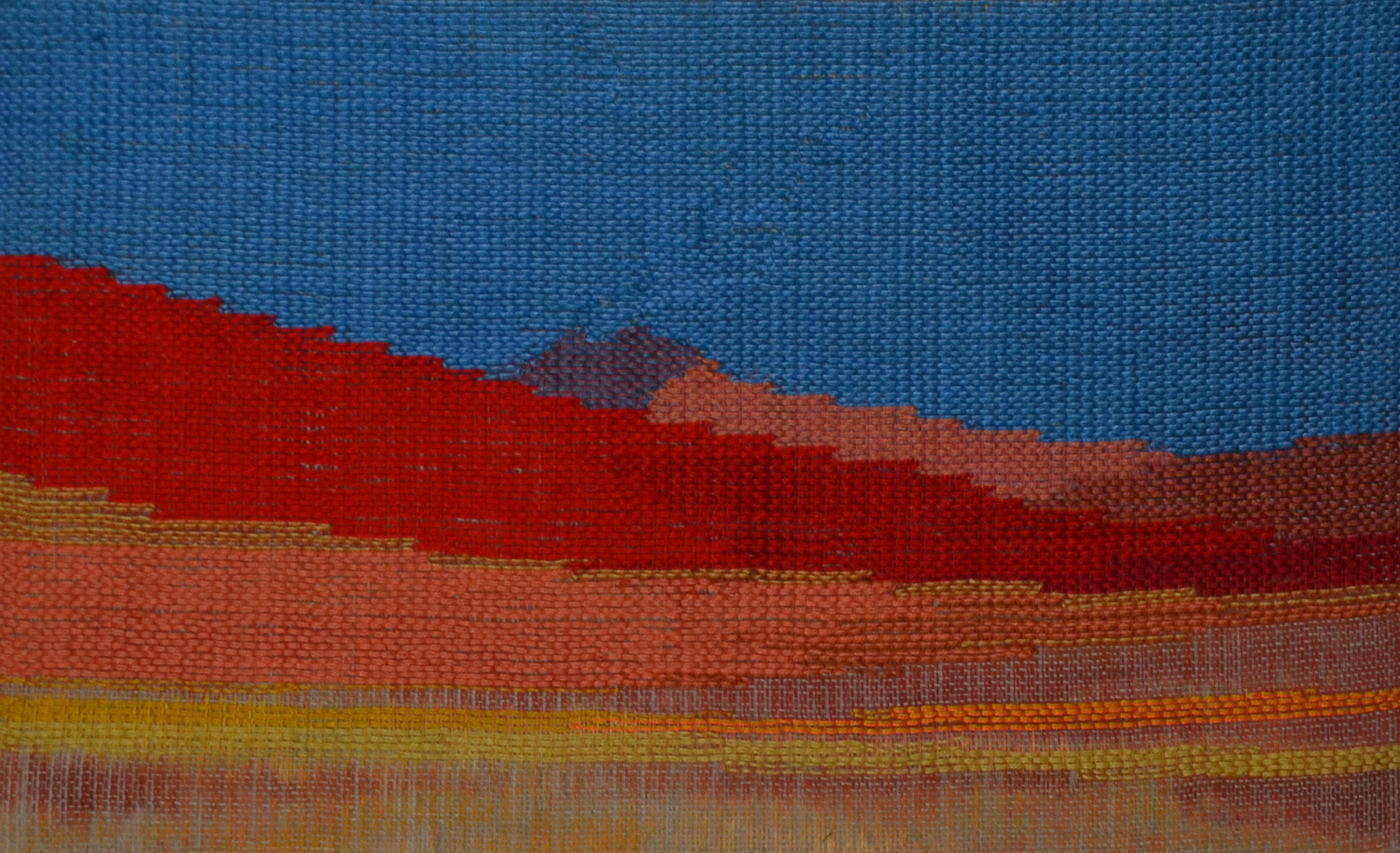Namibia Sand Dunes, Africa, inlay woven on painted lace linen warp