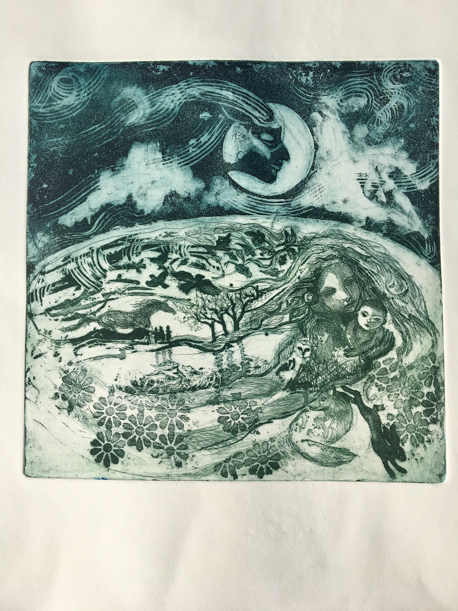 Intaglio pulled print