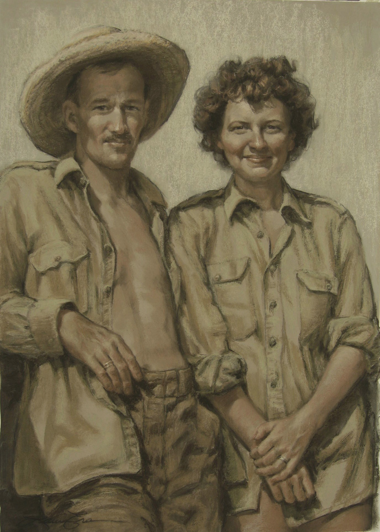 Portrait of my parents shortly after they were married in 1946