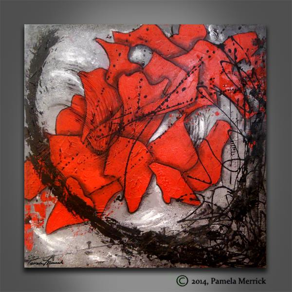 """Fragments of Love"" Abstract Painting by Pamela Merrick"