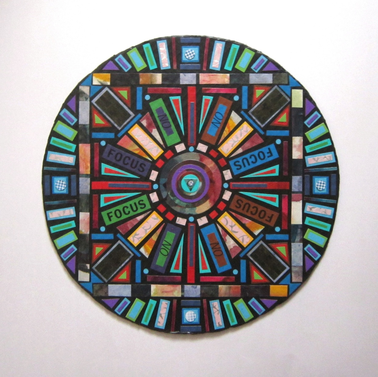 colorful paper/cardboard mandala