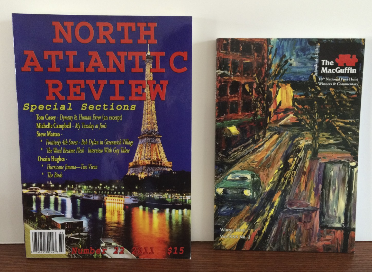Short Stories Published in The North Atlantic Review and The MacGuffin
