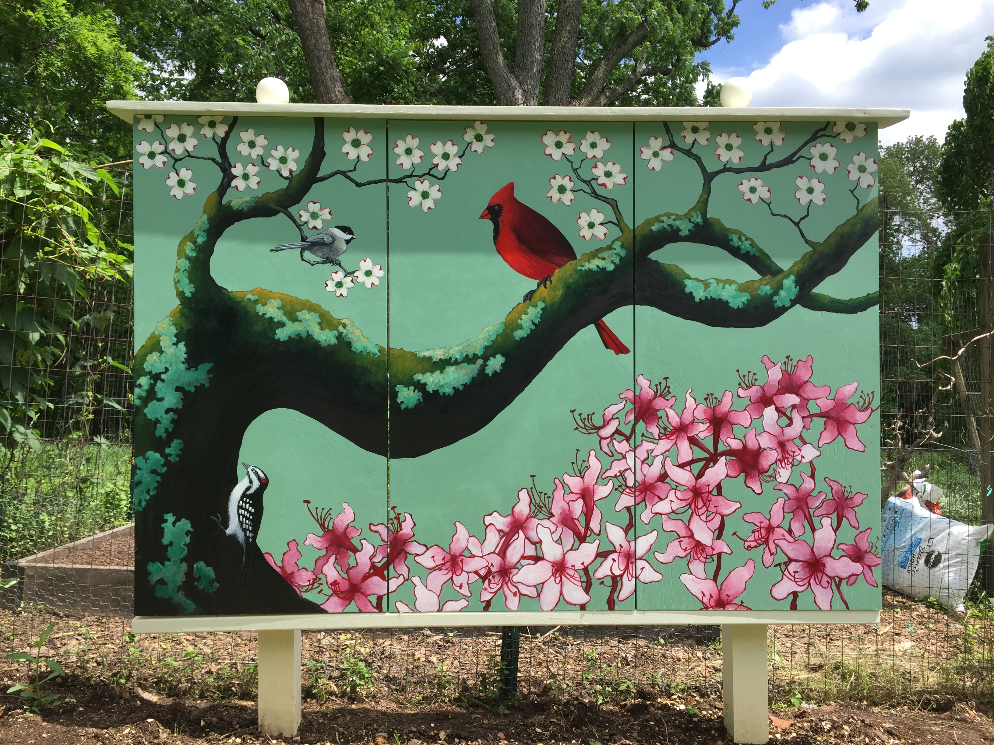 Birds on a Branch mural