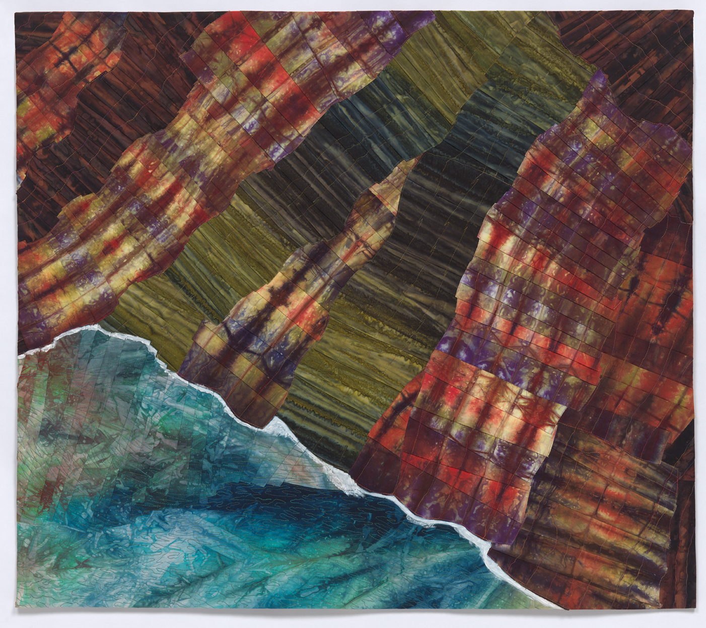 Inspired by an aerial view of the NaPali Coast, Kauai