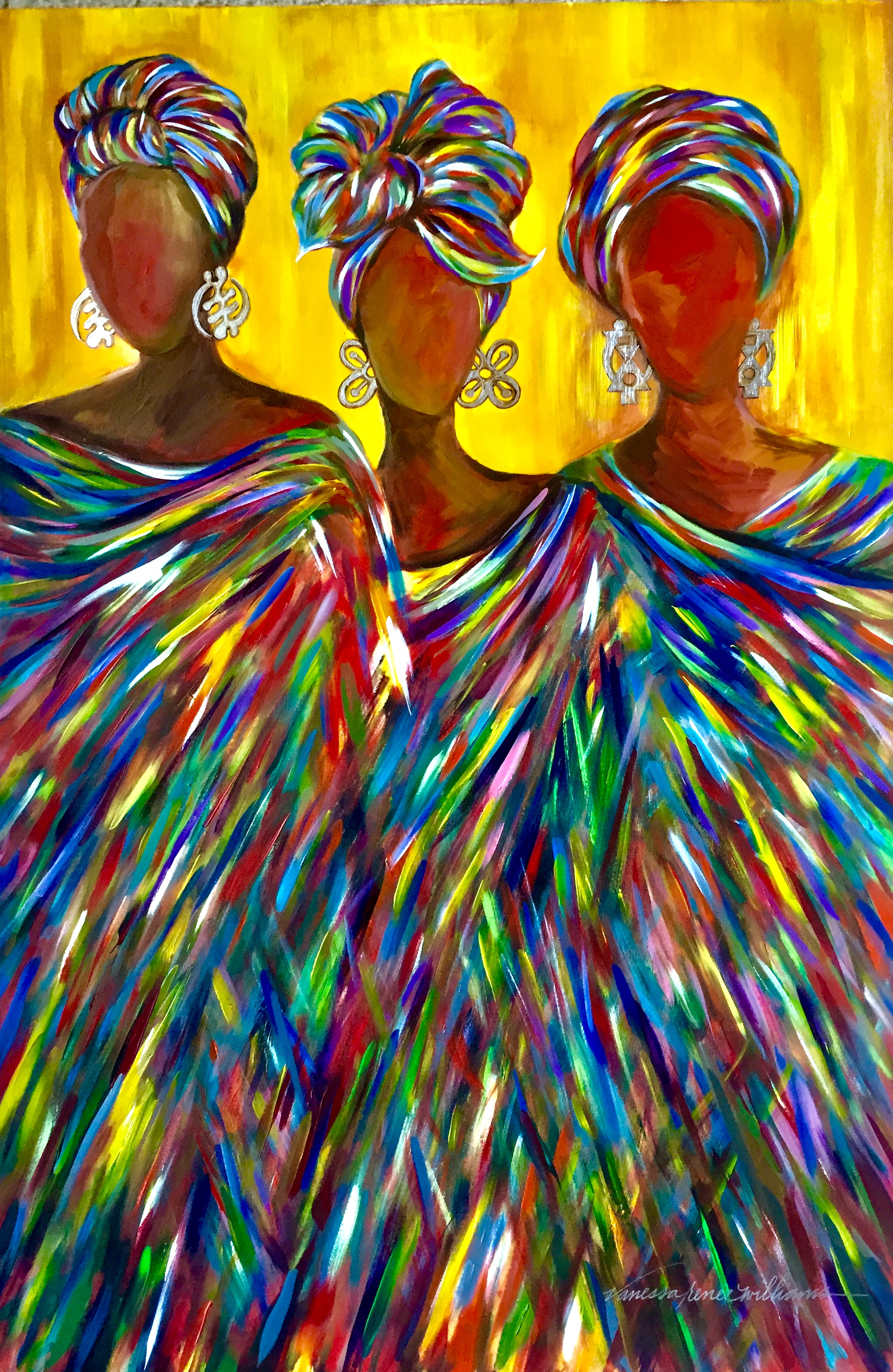 The Women, a painting by Vanessa Renee Williams