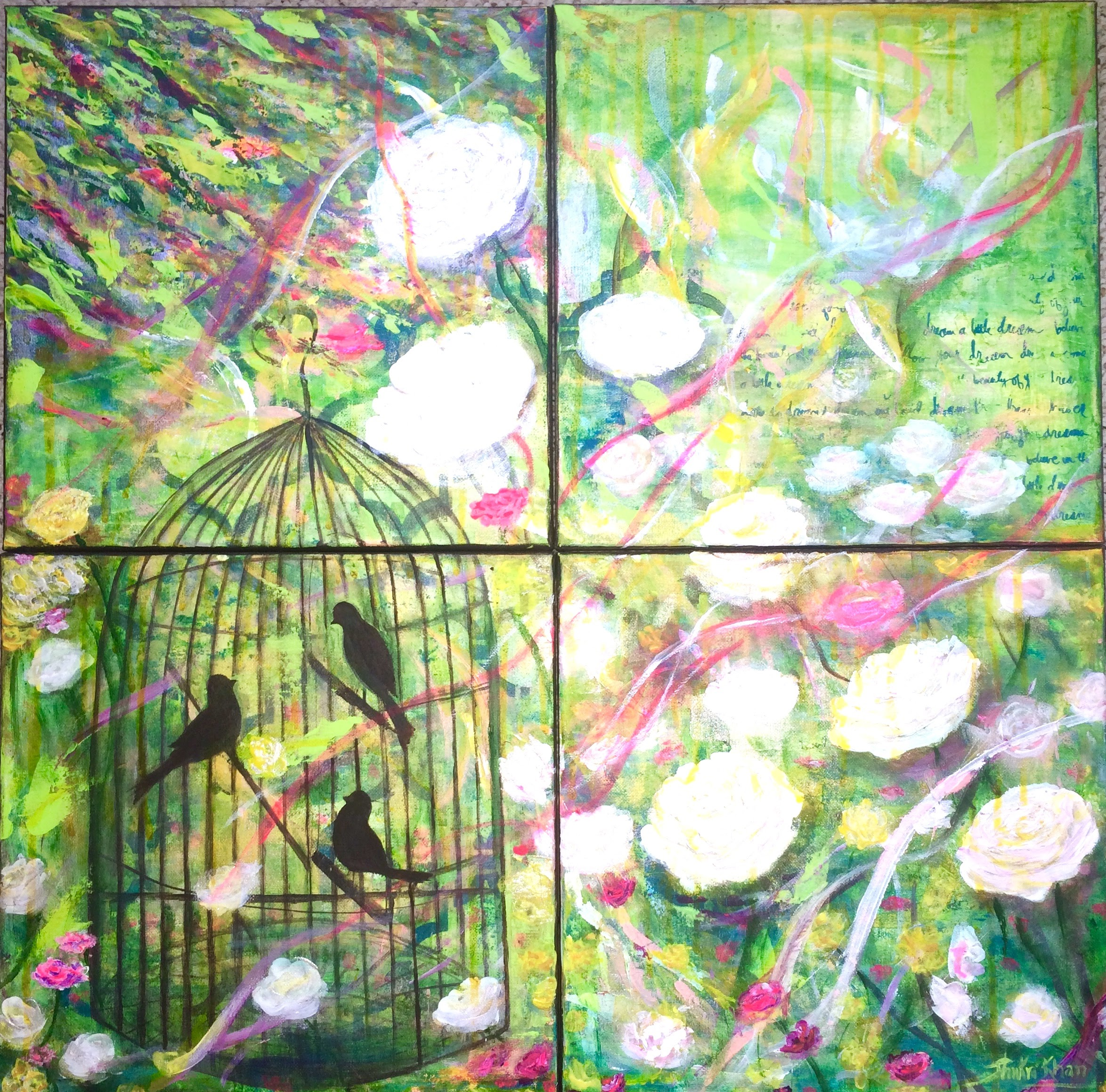 "4 panel artwork on 12""x12"" Canvases"