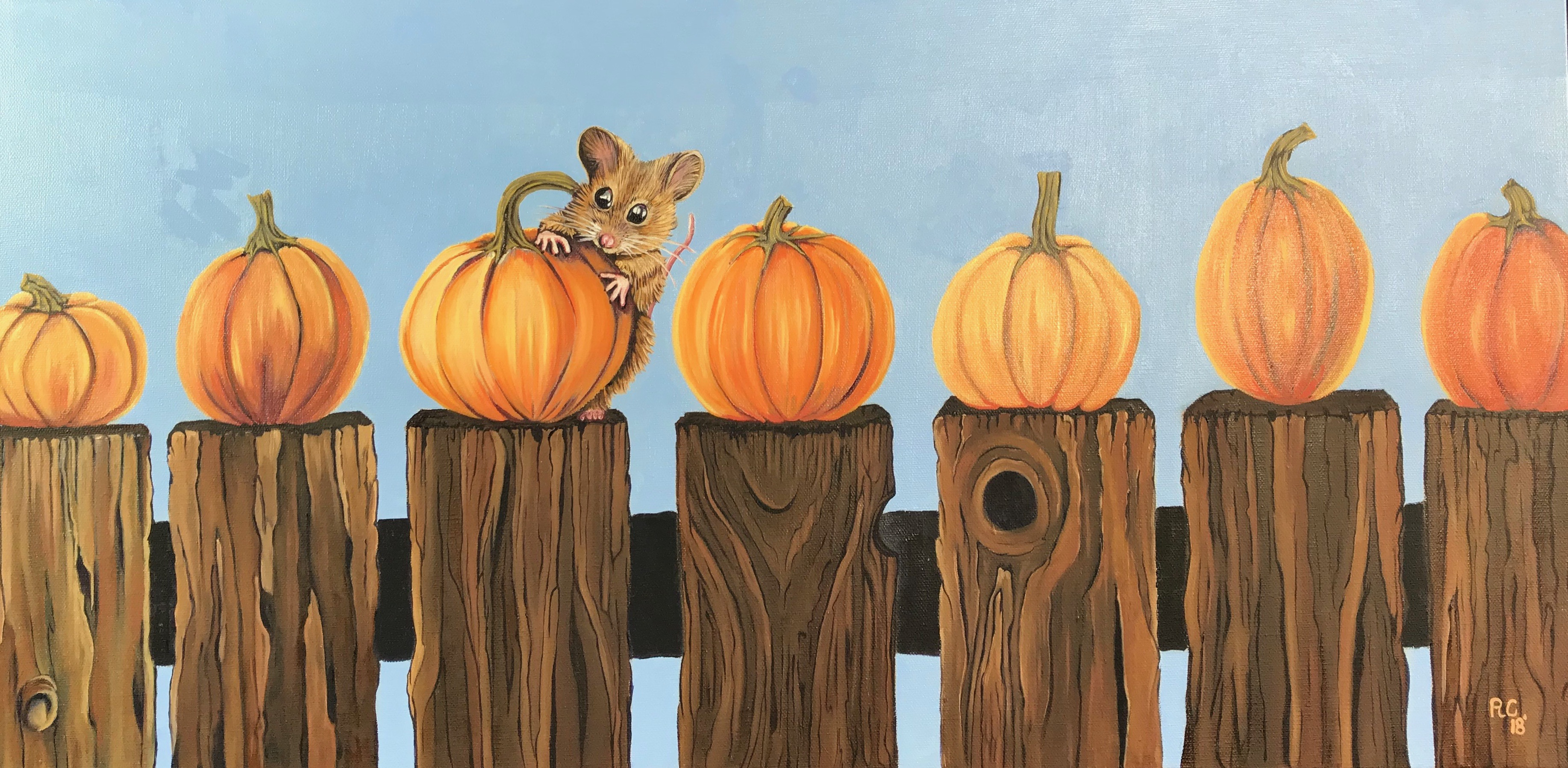 Hungry Mouse with Pumpkin