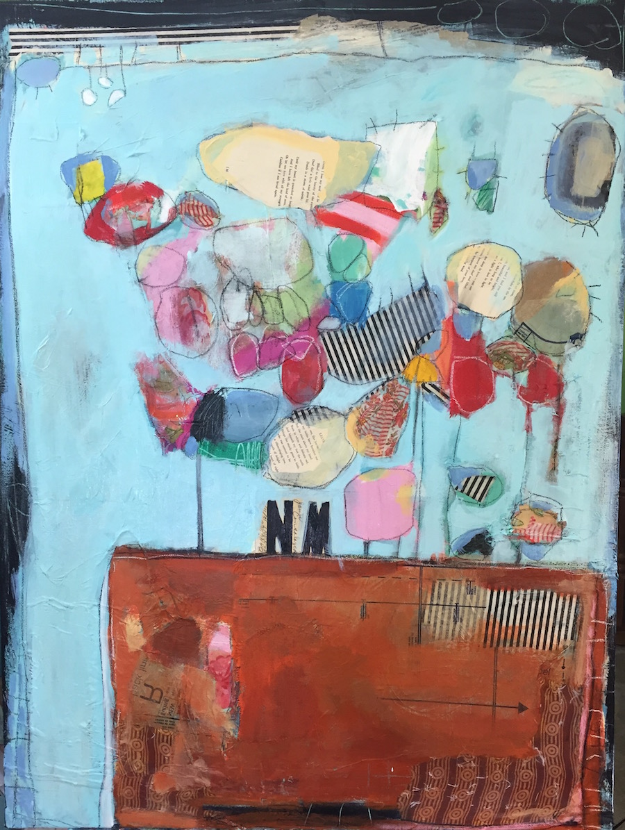 Abstract, Painting, Mixed Media, Collage