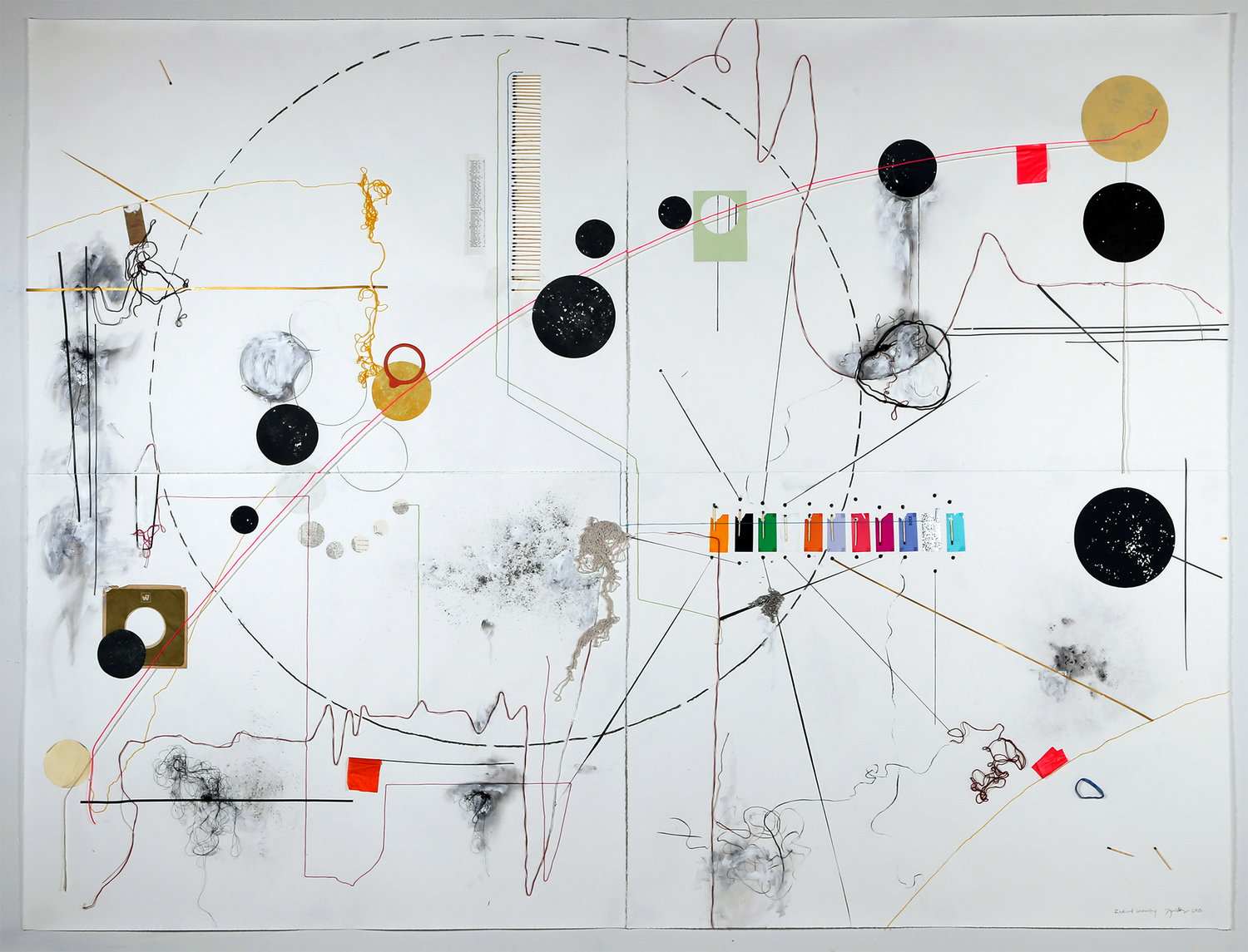 Radical Geometry, mixed media on paper by Julie Wills