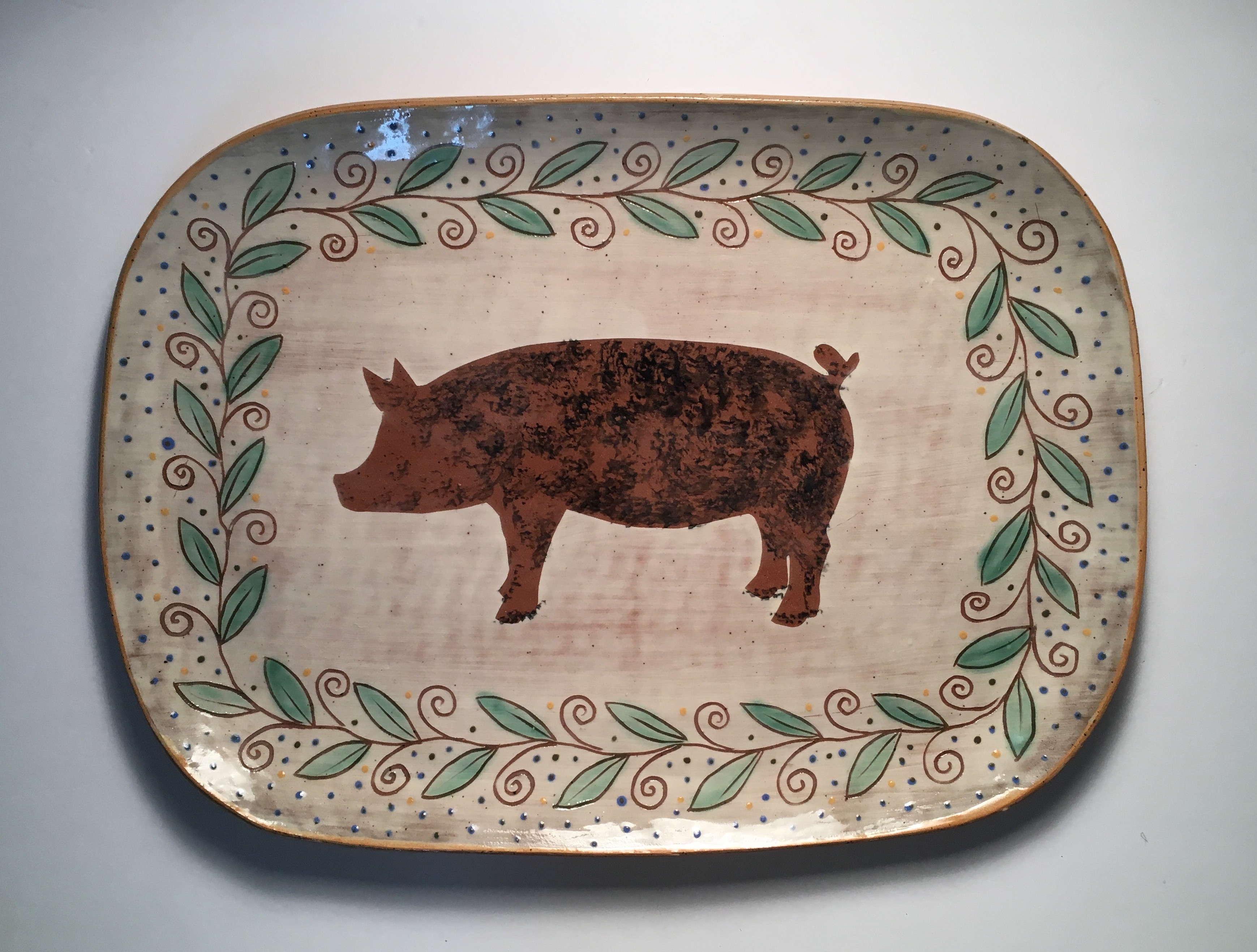 Jennifer Hamilton Ceramic Platter Farm Animal Series