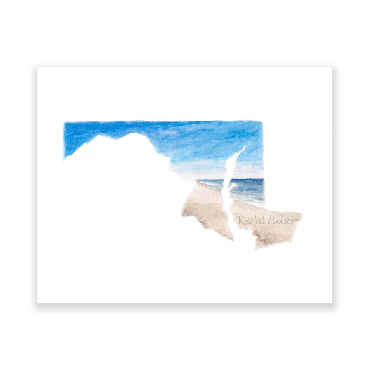 Maryland State Beach Print