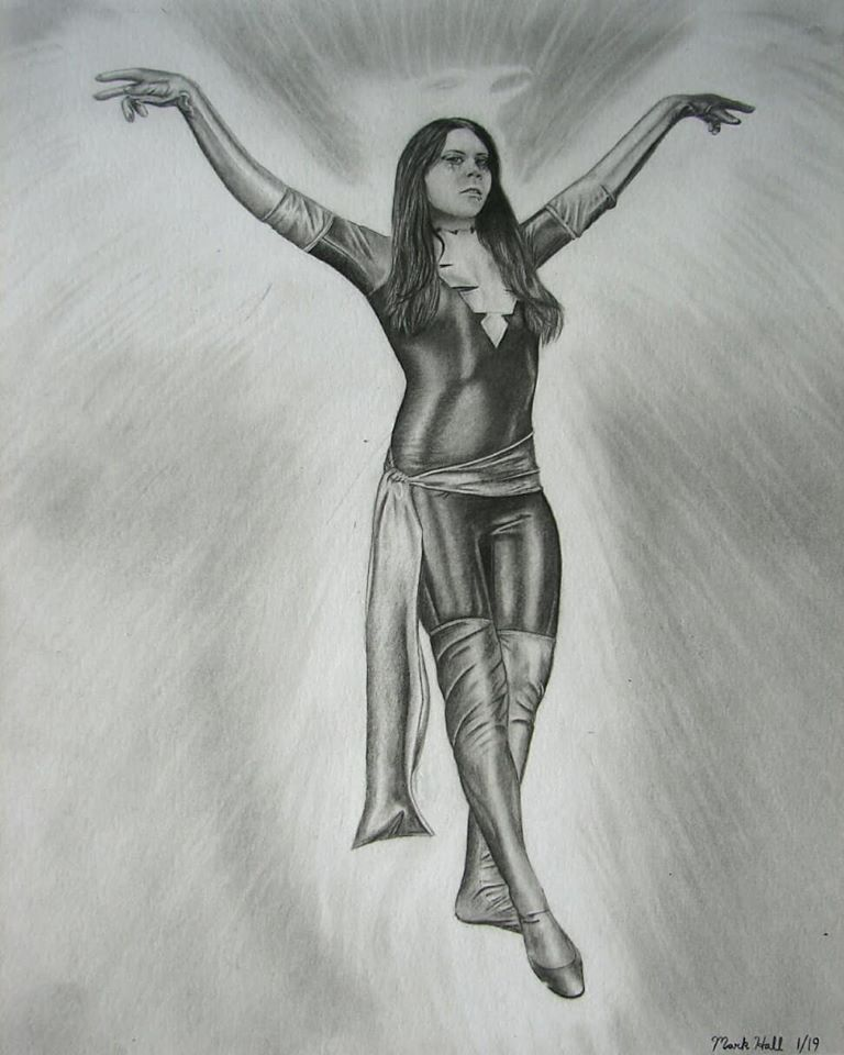 Dark Phoenix X-men Xmen Cosplay Graphite Drawing