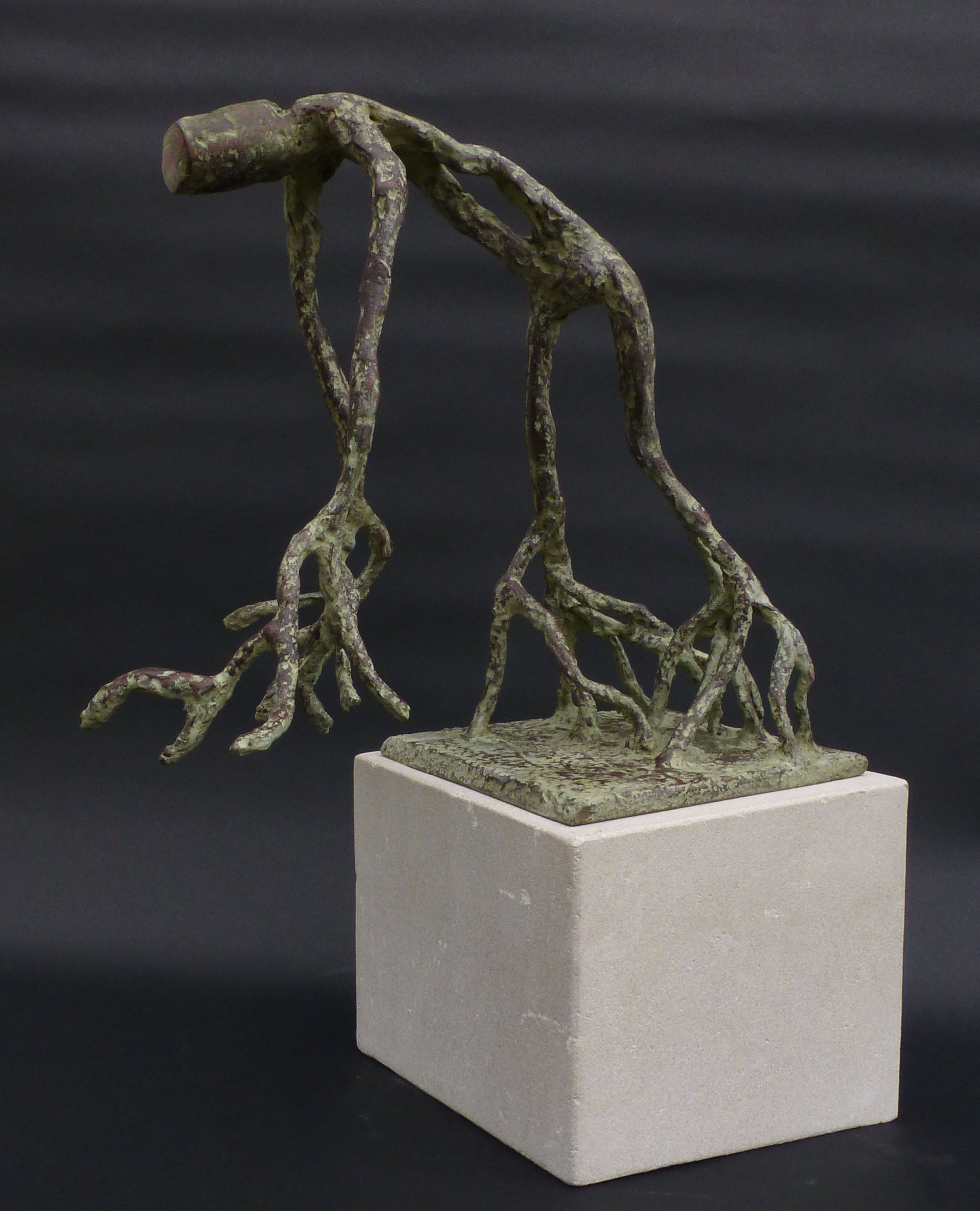 Figurative sculpture, sculpture, welded sculpture, resin