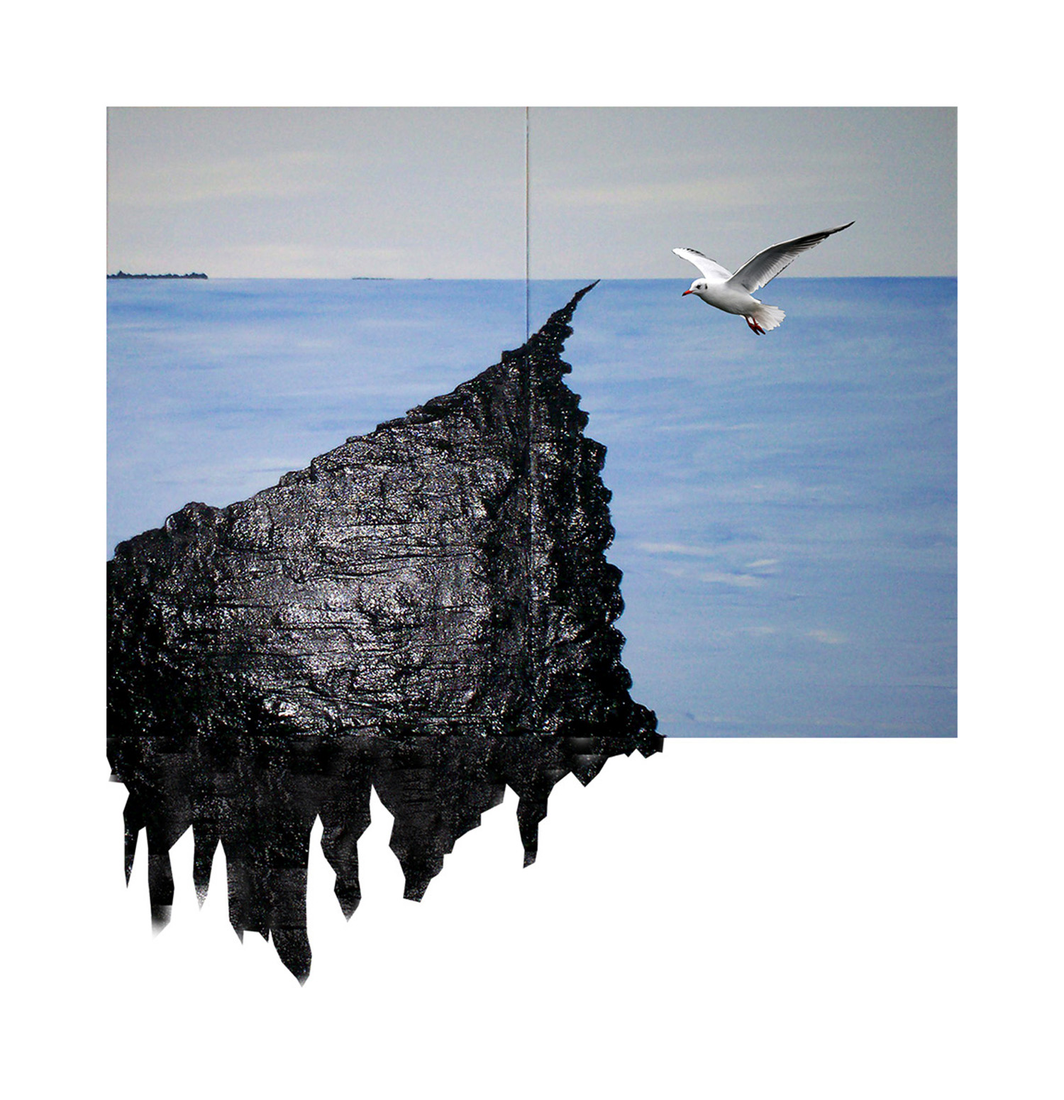 painting- oil spill on the bay