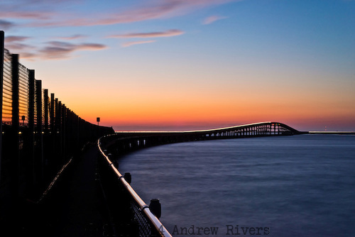 Summer, Oregon Inlet, bridge, Herbert C. Bonner, North Carolina, Atlantic Ocean, twilight, route 12, outer banks, road,
