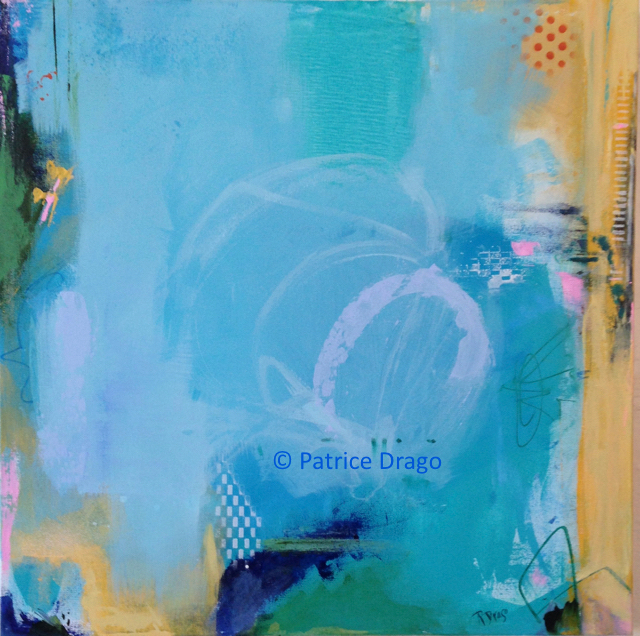 Early Summer, Abstract Acrylic Painting by Patrice Drago, Annapolis Artist