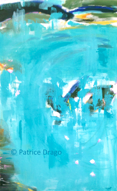 Abstract expressionist painting by Patrice Drago from her 2018 Coastal Series