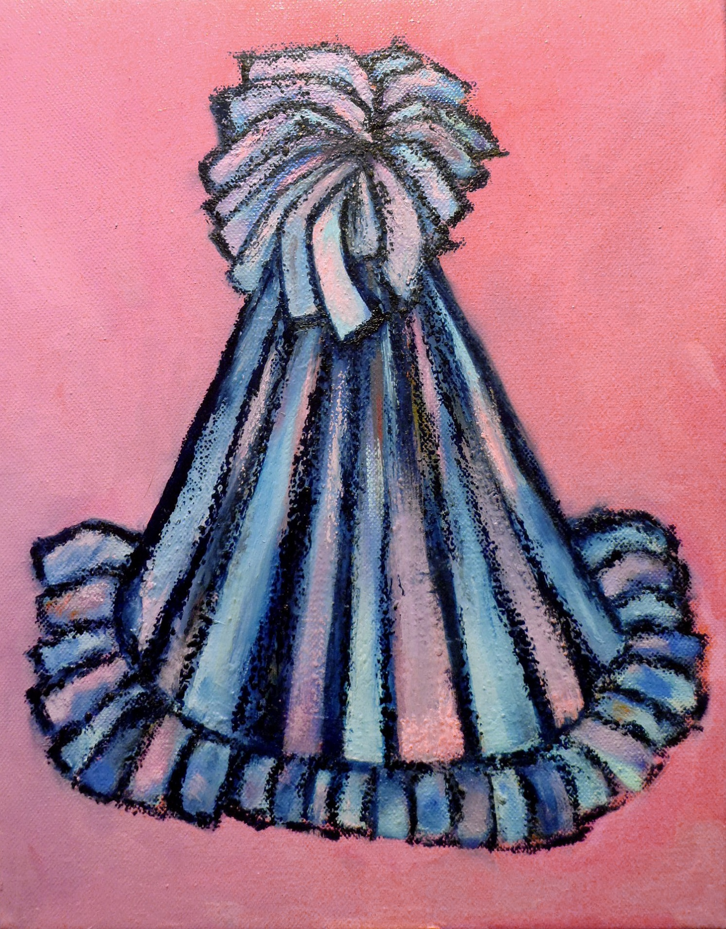 "Lara Ghelerter, ""Party Hat: Pink and Blue"""