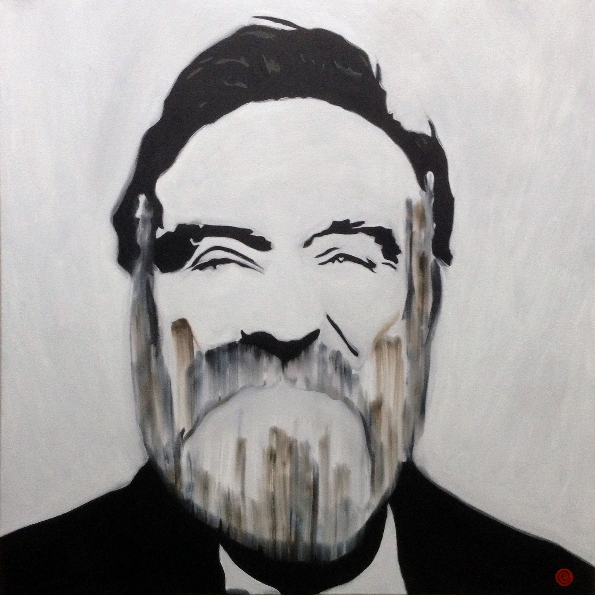 Oil on canvas portrait of Robin Williams