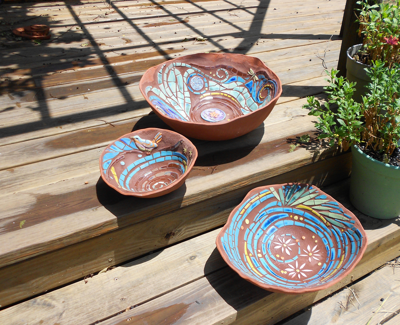 Rain bowls by Parran Collery
