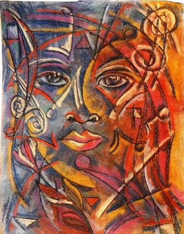 Cubist, abstract, expressive, imaginative, unique, modern, contemporary